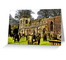 St Peters Church - Croft-on-Tees . Greeting Card
