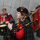 Scottish Pipers by Andrew  Makowiecki