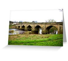 Croft-on-Tees Bridge. Greeting Card