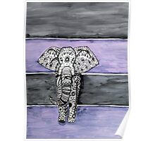 Elephant Tribal Zentangle Poster