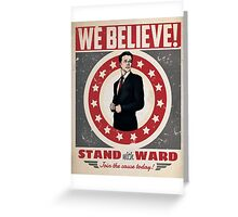 Stand With Ward Greeting Card