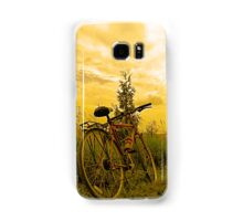 Biking at Sunset Samsung Galaxy Case/Skin