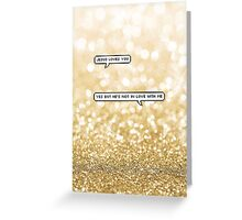 Jesus loves you - gold Greeting Card