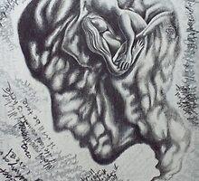 held in mind. 10''x13''. grapjite, oil on wood. adam sturch. by adam sturch