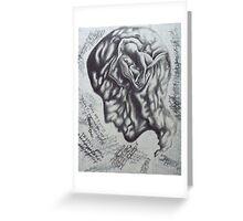held in mind. 10''x13''. grapjite, oil on wood. adam sturch. Greeting Card