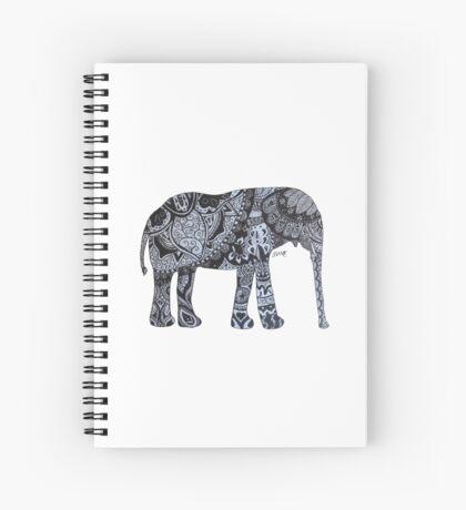 Zentangle Elephant Spiral Notebook