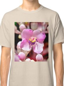 Lone Pink Flower Bloom  Classic T-Shirt