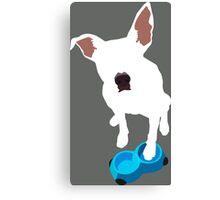 Puppy Desires Dinner Canvas Print