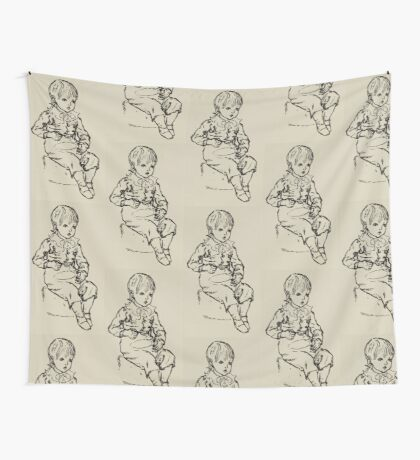 Kate Greenaway Collection 1905 0257 Boy Eating Wall Tapestry