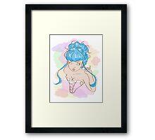 Corset girl Framed Print