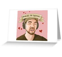 JackSepticEye Derpy Smooches Greeting Card