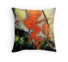 Dance of the Paper Dragons Throw Pillow