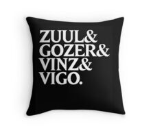 Zuul&Gozer&Vinz&Vigo Throw Pillow