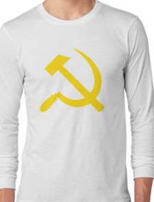 Communism - Soviet Union - Hammer Sickle Star Long Sleeve T-Shirt