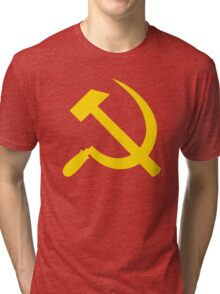 Communism - Soviet Union - Hammer Sickle Star Tri-blend T-Shirt