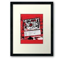 Television Addict Framed Print