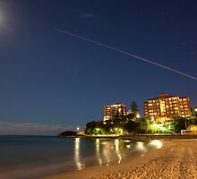 Manly Moon & Shooting Star by MiImages
