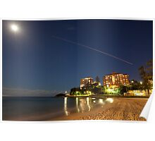 Manly Moon & Shooting Star Poster
