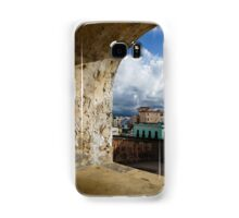 Caribbean Colors of San Juan, Puerto Rico From a Window of San Cristobal Castle Samsung Galaxy Case/Skin