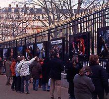 Photo exhibition, Jardin de Luxembourg, Paris, December 2004 by Andrew Jones