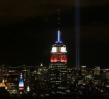 Empire State Building with Tribute Lights by Matt Jones