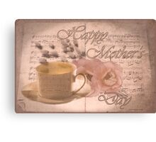 Mothers Day Card Canvas Print