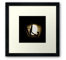 Mantis silhouette Framed Print