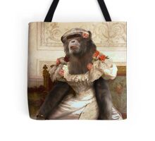 Chimp in Gown Tote Bag