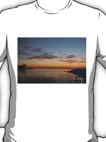 A Long Line of Canada Geese at Sunrise T-Shirt