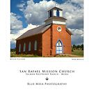 San Rafael Mission Church (poster version) by Mitchell Tillison