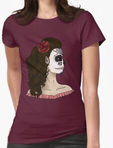 Mexican Skull Womens Fitted T-Shirt