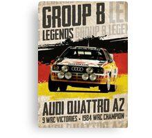 Group B Legends - Audi Quattro A2 Canvas Print