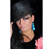 long lashes Photographic Print