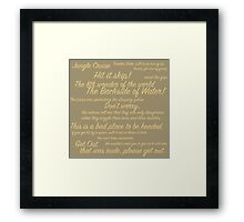 Jungle Cruise Quotes | Jungle Cruise Series Framed Print