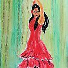 The Flamenco Dancer by GEORGE SANDERSON