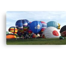 Hot Air Balloons At Turf Valley Canvas Print
