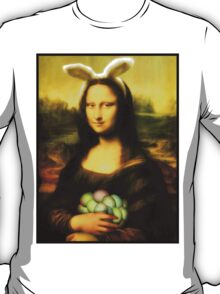 Mona Lisa Easter Bunny  T-Shirt