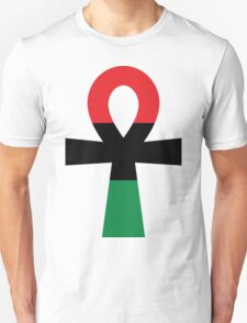 Red, Black & Green Ankh T-Shirt
