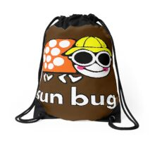 VW Sun Bug (white text) Drawstring Bag