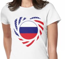 Russian American Multinational Patriot Flag Series 2.0 Womens Fitted T-Shirt