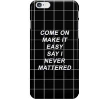 Fall Out Boy Young Volcanoes Lyrics iPhone Case/Skin