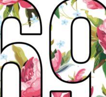 Waltz Like It's 1698 - Pink Floral Sticker
