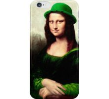 Lucky Mona Lisa - St Patrick's Day iPhone Case/Skin