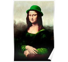 Lucky Mona Lisa - St Patrick's Day Poster