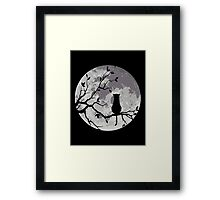 The Cat And The Moon Framed Print