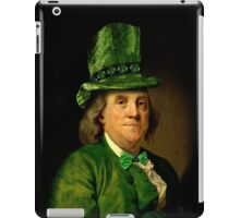 St Patrick's Day for Lucky Ben Franklin   iPad Case/Skin