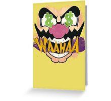 """Wario """"WAAHAA!"""" Digital Paint Greeting Card"""