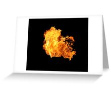 Fire Bloom on Black Greeting Card