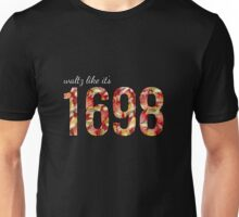 Waltz Like It's 1698 - Red Floral Unisex T-Shirt