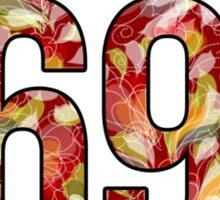 Waltz Like It's 1698 - Red Floral Sticker
